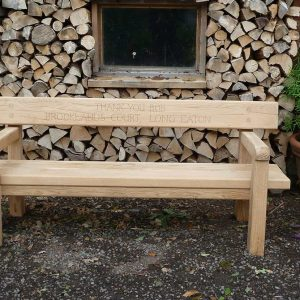 back bench with arms